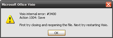 second error saving visio file
