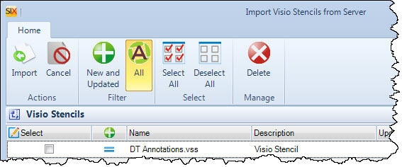 File:SIX_Guide/007_Projects/003_Visio_Interface/Visio_Shapes_for_SIX/Import_Export_Stencils/import_visio_stencils_from_server_form.jpg